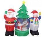 "Фигура надувная ""Дед Мороз и Снеговик"", 210 см, диаметр 120 см"