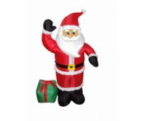 """Фигура надувная """"Дед Мороз с подарком"""", 120 см, 3 лампы подсветка"""