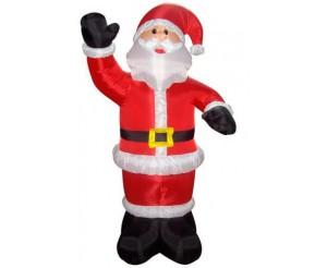 """Фигура надувная """"Дед Мороз приветствует"""", 240 см, 5 ламп"""
