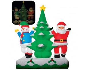 """Фигура надувная """"Дед Мороз, Снеговик, Елка на сугробе"""", 1.8 м"""