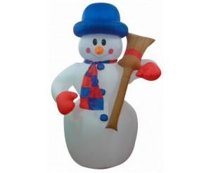"""Фигура надувная """"Снеговик с метлой"""", 120 см, 3 лампы подсветка"""