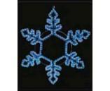 """Светодиодная """"Снежинка"""", 76х76 см, синяя"""