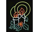 """Светодиодная фигура """"Две свечи"""", 110х75 см"""