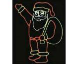 """Светодиодная фигура """"Дед Мороз с мешком"""", 100х100 см"""