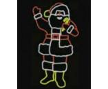 "Светодиодная фигура ""Дед Мороз"", 139х65 см"