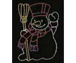 """Светодиодная фигура """"Снеговик с метлой"""", 100х123 см"""