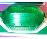 Строб лампа накладная зеленая