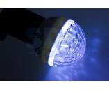 LED Лампа Е27, 9 диодов синяя
