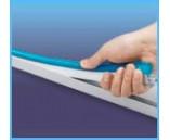 Пластиковый профиль для монтажа светодиодного неон флекса, длина: 1 м