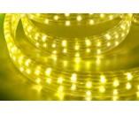 Светодиодный плоский дюралайт (пятижильный), 11х28 мм, желтый, 5 жил, 4 канала, 220 В, 19.2 Вт/м