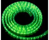 Светодиодный плоский дюралайт (пятижильный), 11х28 мм, зеленый, 5 жил, 4 канала, 220 В, 19.2 Вт/м