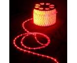 Дюралайт двужильный (фиксинг), цвет красный, 13 мм , 220 В, 2,4 Вт/м, 2 жилы, 1 канал, шаг диодов 2.77 см.