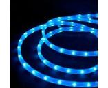 Светодиодный плоский дюралайт (пятижильный), 11х28 мм, синий, 5 жил, 4 канала, 220 В, 19.2 Вт/м
