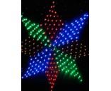 """светодиодная сеть """"Звезда восьмиконечная"""", диаметр 1.5 м"""