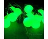 """5 м, 18 крупных шариков, Светодиодная гирлянда """"Мультишарики"""", зелёная"""
