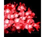 """Светодиодная гирлянда """"Цветки сакуры"""", 10 м, красная, 100 диодов"""