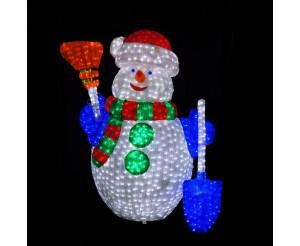 """Световая фигура акриловая """"Снеговик"""", 120 см"""