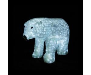 """Световая фигура акриловая """"Белый медведь"""", 60х110 см"""