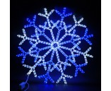 """Светодиодная фигура """"Большая Снежинка LED"""" 90х90 см, бело-синяя"""