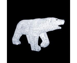 """Световая фигура акриловая """"Белый медведь"""", 70х125 см"""