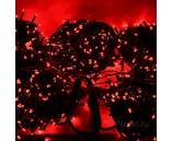 5 нитей по 20 м, Гирлянда на деревья, с трансформатором, красная