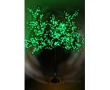 "Светодиодное дерево ""Сакура"", высота 1.9 м, диаметр 1.5 м, зеленое"