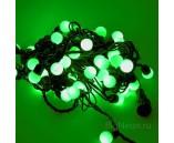 """10 м, Светодиодная гирлянда """"Мультишарики"""", цвет зеленый, 60 шариков"""