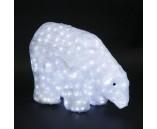 """Световая фигура акриловая """"Белый медведь"""", 40х55 см"""