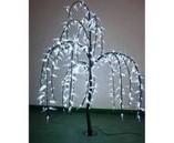 """Световое дерево """"Ива плакучая"""" Белая , 1.5х0.6 м"""