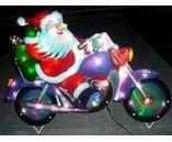 Световая фигура. Дед Мороз на мотоцикле
