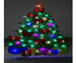 Световая фигура. Праздничная елка с яркими гирляндами