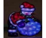 Световая фигура. Яркий Снеговик и снежный ком