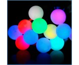 """5 м, 18 крупных шариков, Светодиодная гирлянда """"Мультишарики"""", RGB мультиколор"""
