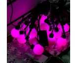 """5 м, 18 крупных шариков, Светодиодная гирлянда """"Мультишарики"""", розовая"""