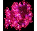 """Светодиодная гирлянда """"Цветки сакуры"""", 10 м, розовая, 100 диодов"""